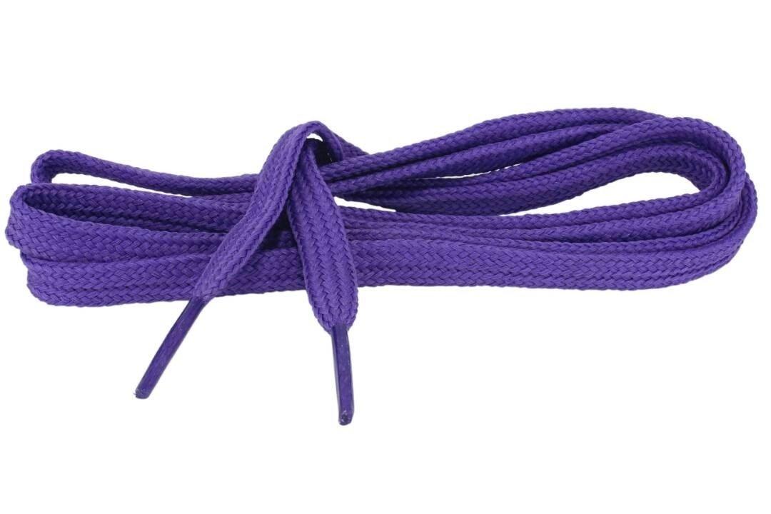 Flat Shoe Laces for sneakers color royal purple