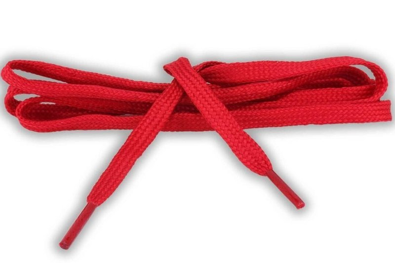 Flat Shoe Laces for sneakers color red