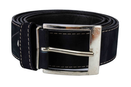 Bulk Men Blue Suede Belt Genuine Leather 1.5'' wide