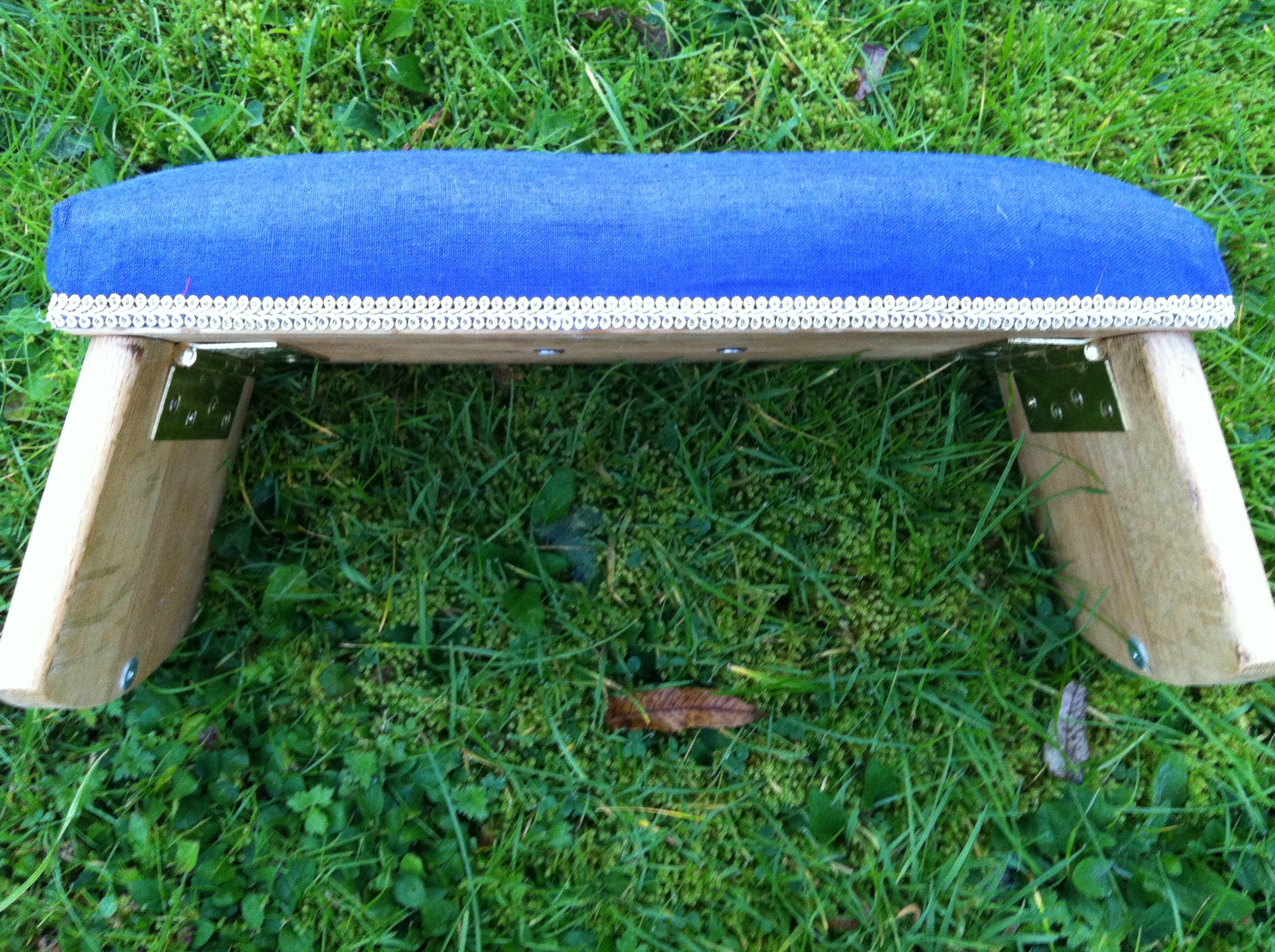 Hand Painted Butterfly Meditation Bench