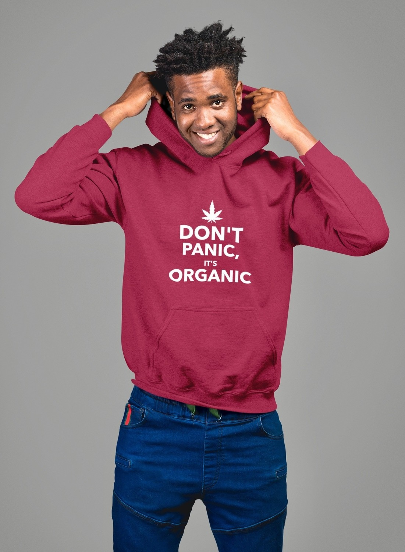 4ad44f4b6 Don't Panic It's Organic - Gildan 18500 Unisex Heavy Blend Hooded Sweatshirt