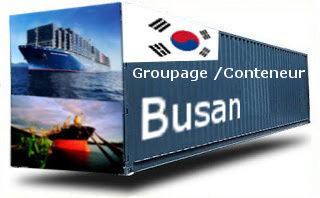 Corée Busan groupage maritime