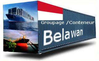 Indonésie Belawan groupage maritime