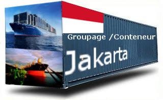 Indonésie Jakarta groupage maritime