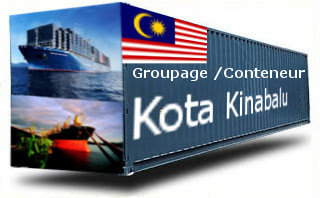 Malaisie Kota Kinabalu groupage maritime