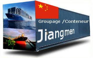 Chine Jiangmen - France Import groupage maritime