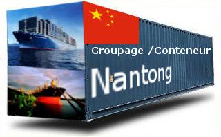 Chine Nantong - France Import groupage maritime