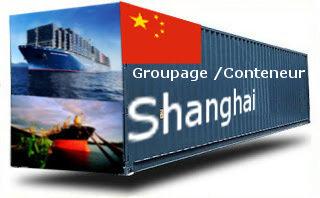 Chine Shanghai - France Import groupage maritime