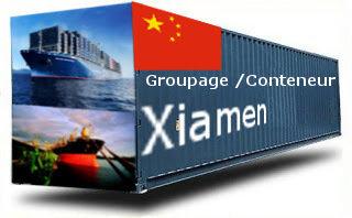 Chine Xiamen - France Import groupage maritime