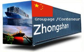 Chine Zhongshan- France Import groupage maritime
