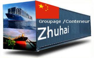 Chine Zhuhai - France Import groupage maritime