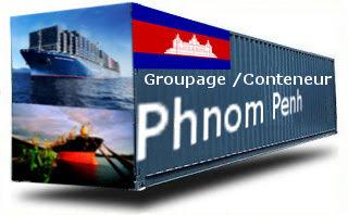 Cambodge Phnom Penh - France Import groupage maritime
