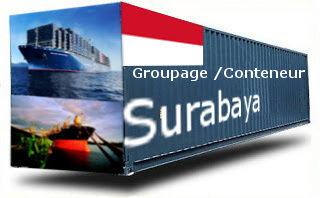 Indonésie Surabaya - France Import groupage maritime