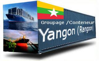 Birmanie (Myanmar) Yangoon - France Import groupage maritime