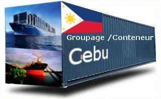 Philippines Cebu - France Import groupage maritime