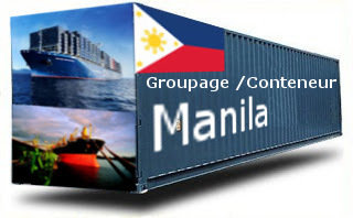 Philippines Manille - France Import groupage maritime
