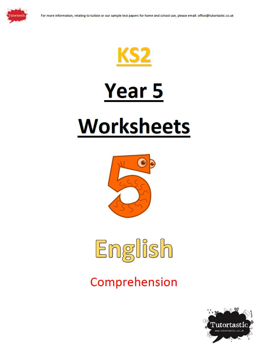 Year 5 English - Comprehension
