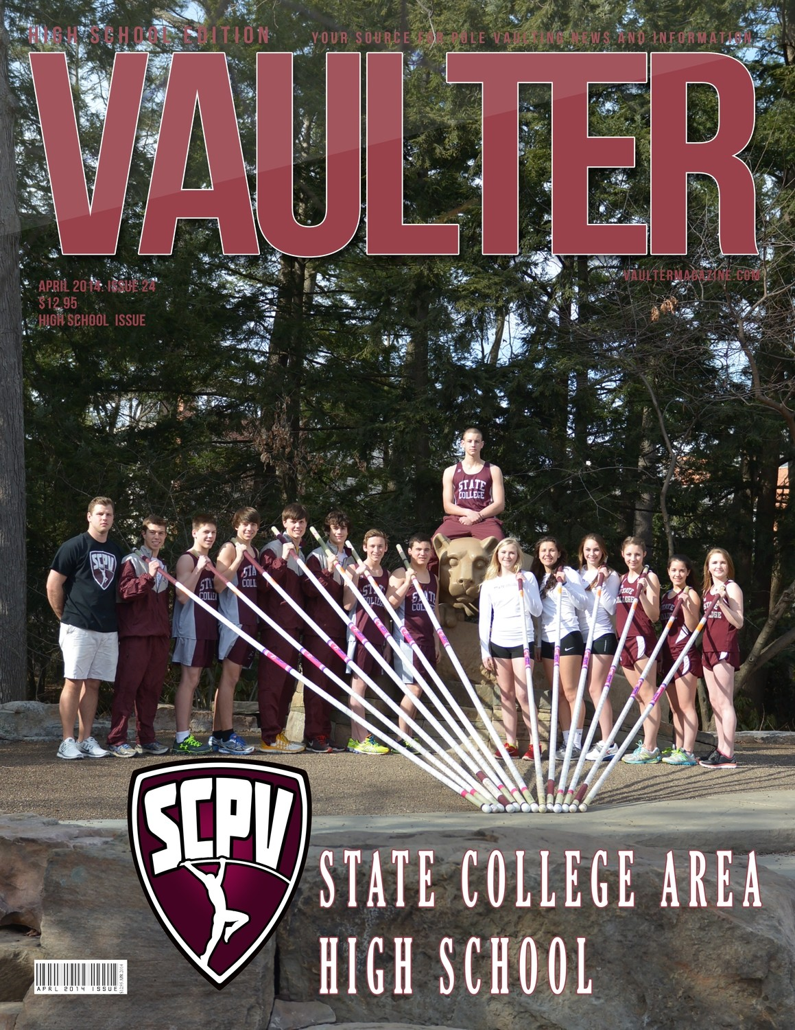 "April 2014 State College Area High School Issue of VAULTER Magazine USPS First Class ""ONLY"""