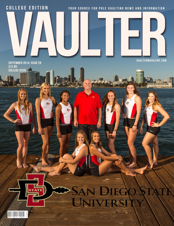 "September 2014 San Diego State University College Edition Issue of VAULTER Magazine USPS First Class ""ONLY"""