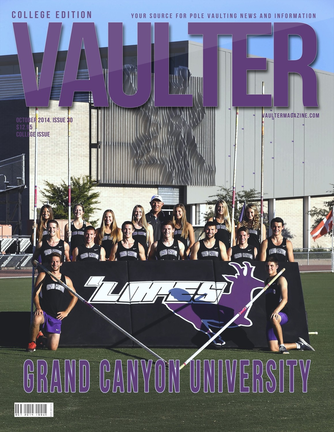 "October 2014 Grand Canyon University Issue of VAULTER Magazine USPS First Class ""ONLY"""