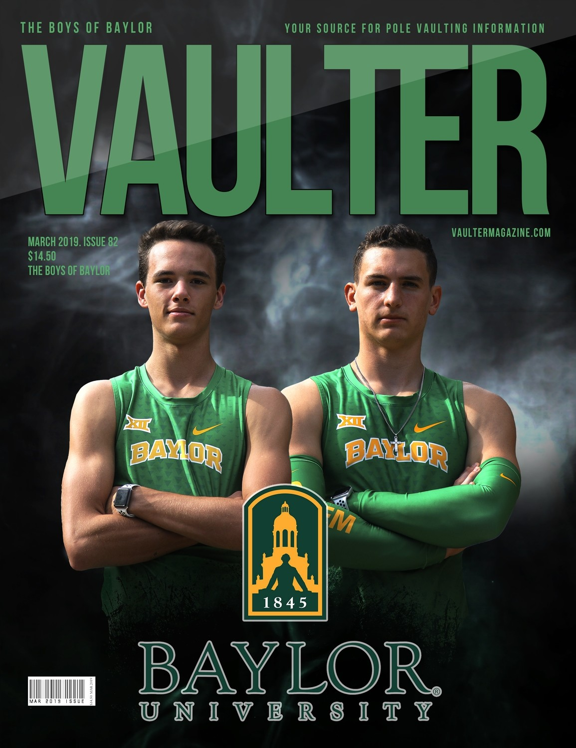 March 2019 Boys of Baylor Issue of Vaulter Magazine Cover  - Digital Download