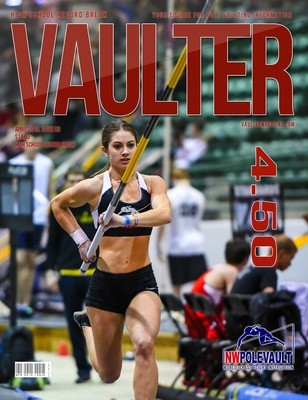 April 2019 Chloe Cunliffe High School Record Break Cover of Vaulter Magazine  U.S. Standard Mail