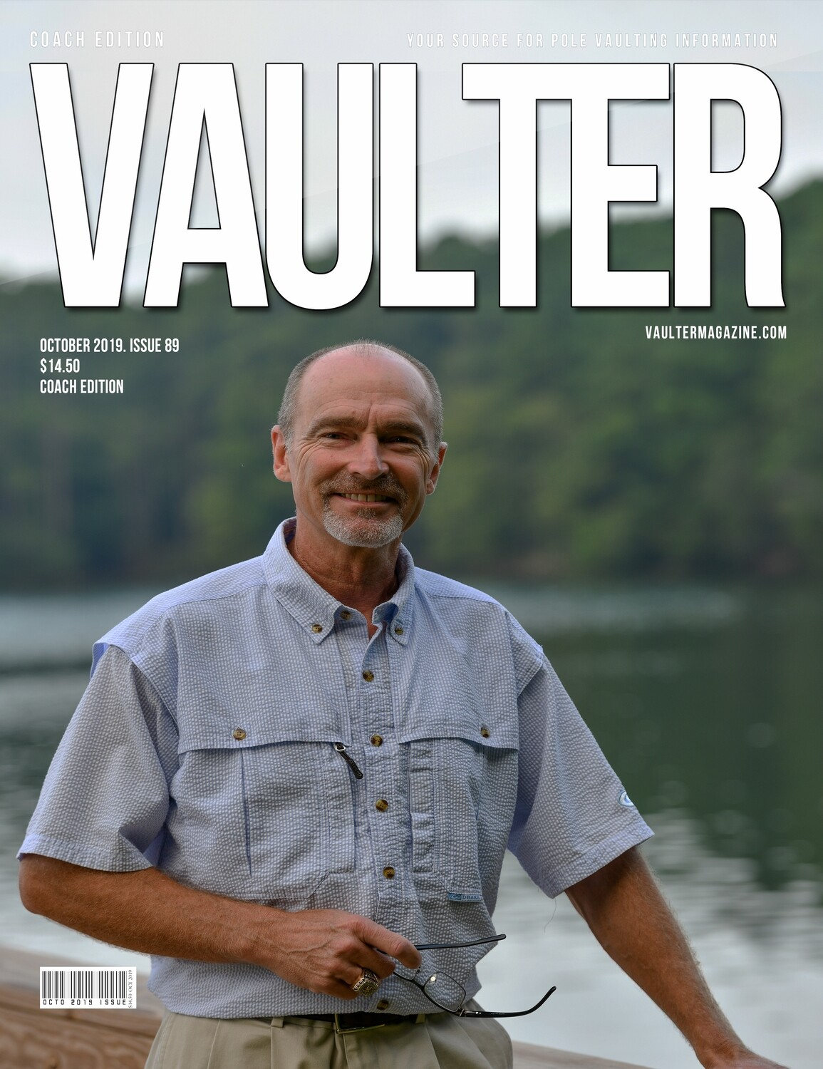 October 2019 Vaulter Magazine Rusty Shealy Issue of Vaulter Magazine Cover  - Poster