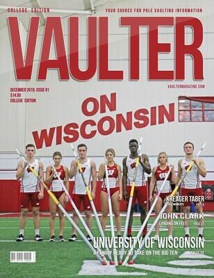 December 2019 Vaulter Magazine University of Wisconsin Issue of Vaulter Magazine Cover  - Poster
