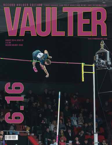"12"" x 18"" Poster of Renaud Lavillenie Breaking 6.16 World Record Cover"