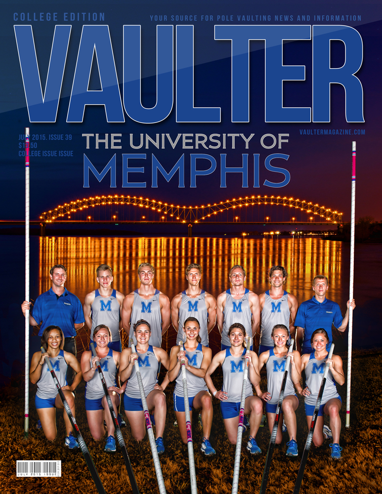 """July 2015 University of Memphis Issue Issue of VAULTER Magazine USPS First Class """"ONLY"""""""