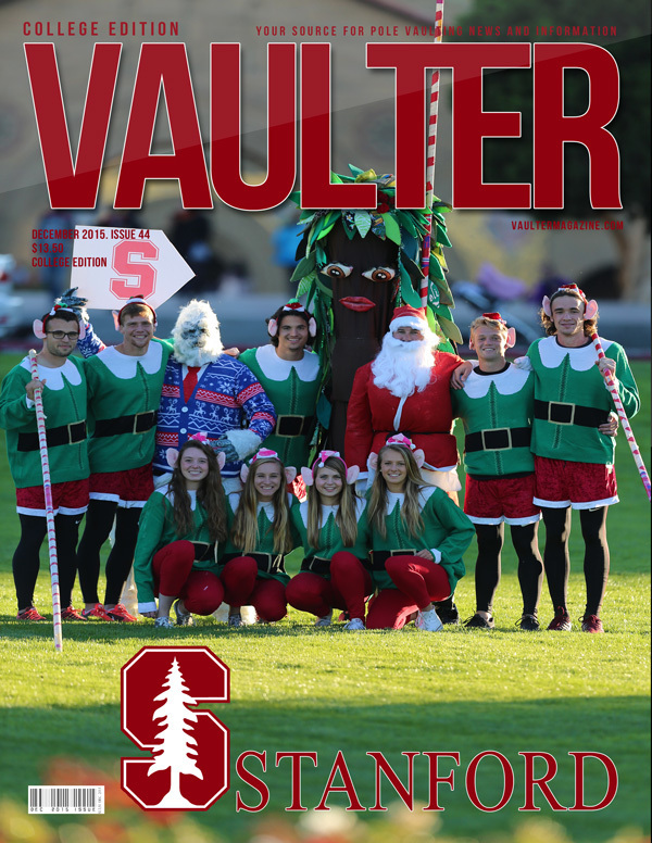 "December 2015 Stanford University Issue of VAULTER Magazine USPS First Class ""ONLY"""