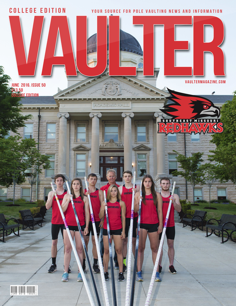 "12"" x 18"" Southeast Missouri State University Cover of Vaulter Magazine June 2016"