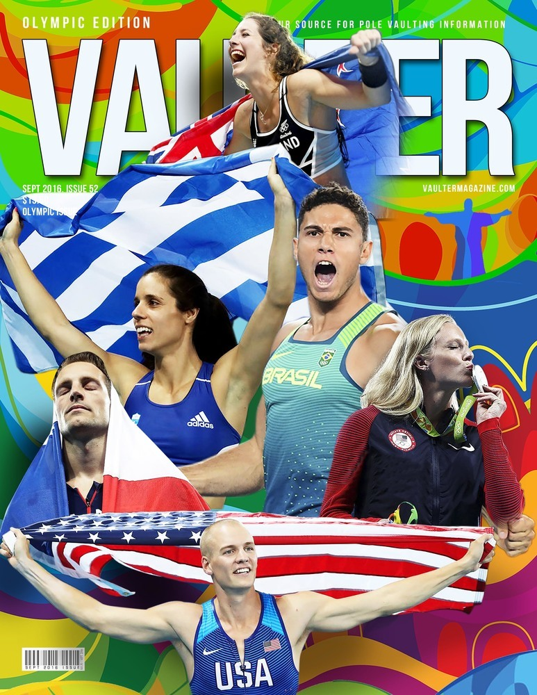 "12"" x 18"" Olympic Medalist Cover of Vaulter Magazine September 2016"