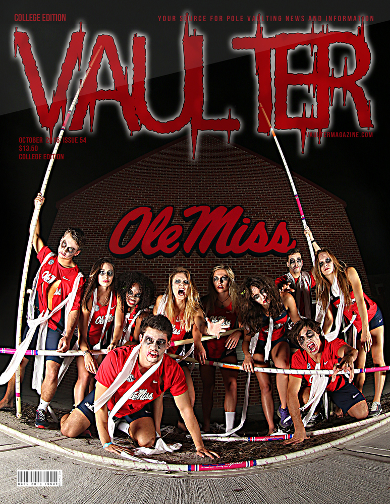 "12"" x 18"" Ole Miss Cover of Vaulter Magazine October 2016"