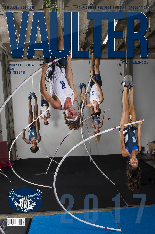 "12"" x 18"" Rice University Cover of Vaulter Magazine January 2017"