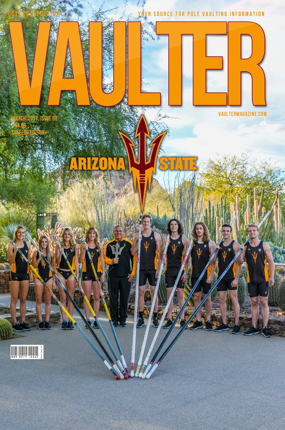 Arizona State University Cover of Vaulter Magazine March 2017