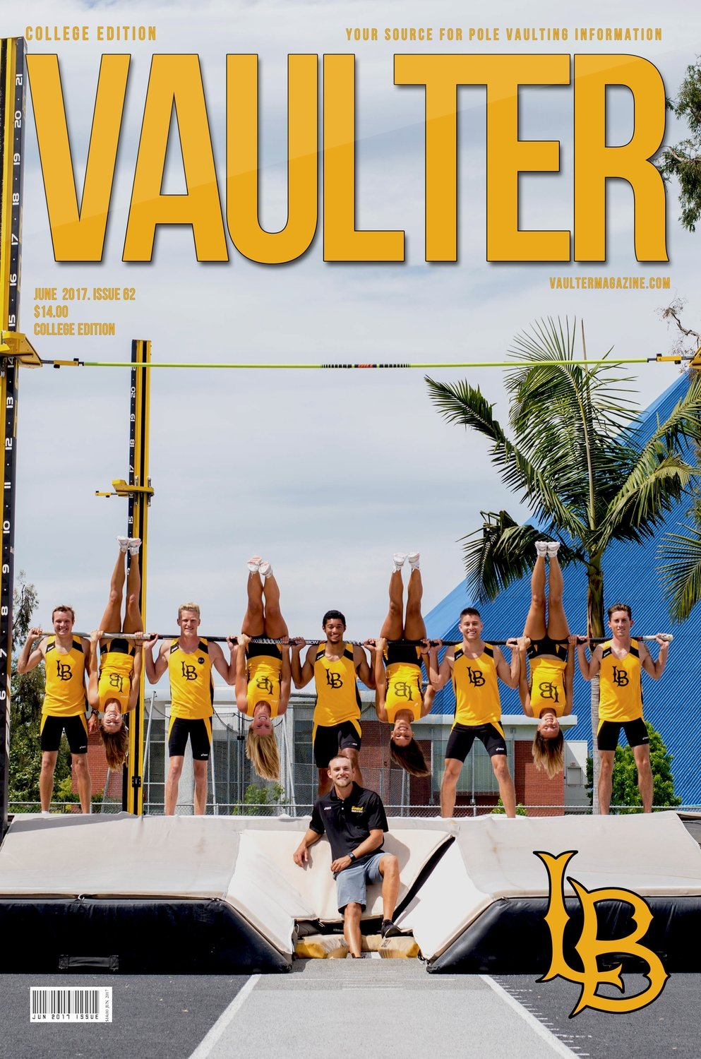 Long Beach State University Cover of Vaulter Magazine June 2017
