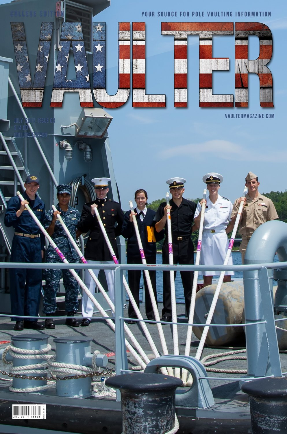 2017 July United States Naval Academy Cover of Vaulter Magazine