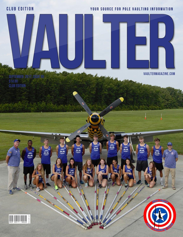 2017 September Aim High Pole Vault Club Cover Poster for Vaulter Magazine