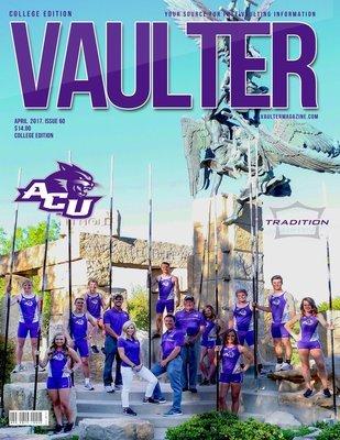 Abilene Christian University Cover of Vaulter Magazine USPS Only