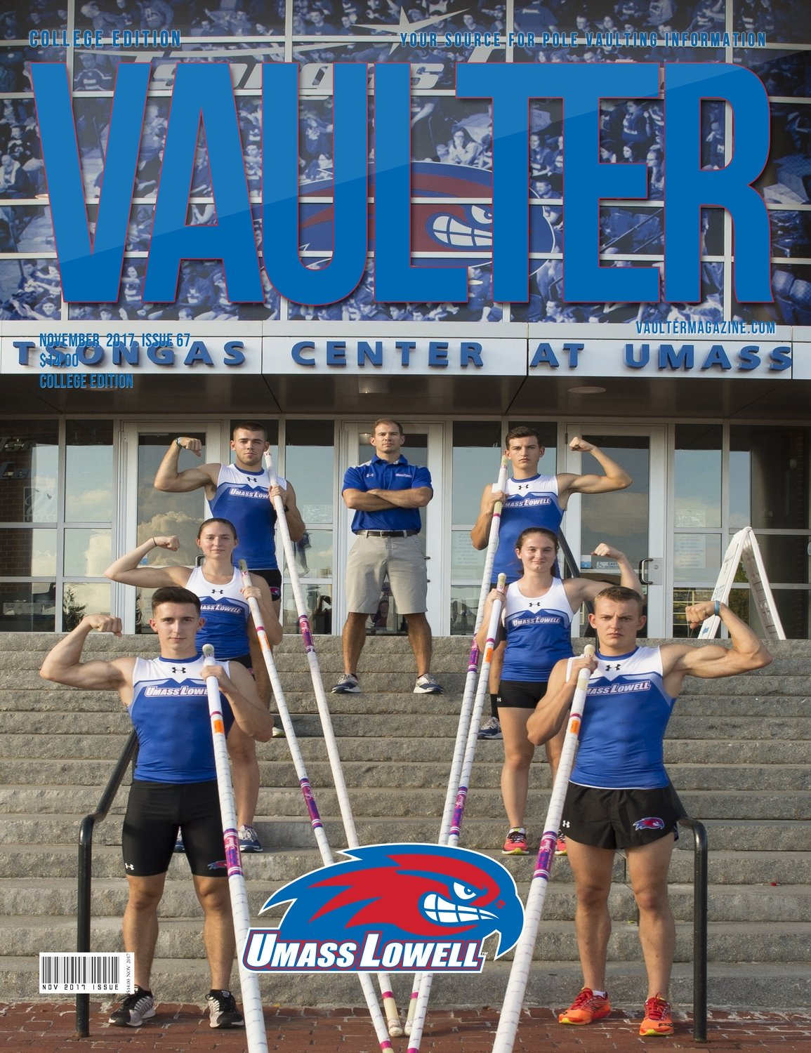 November 2017 University of Massachusetts Lowell Cover for Vaulter Magazine Digital Download