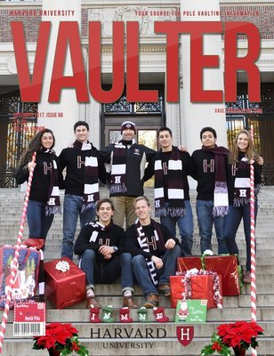December 2017 Harvard University Issue of Vaulter Magazine Cover USPS Mail