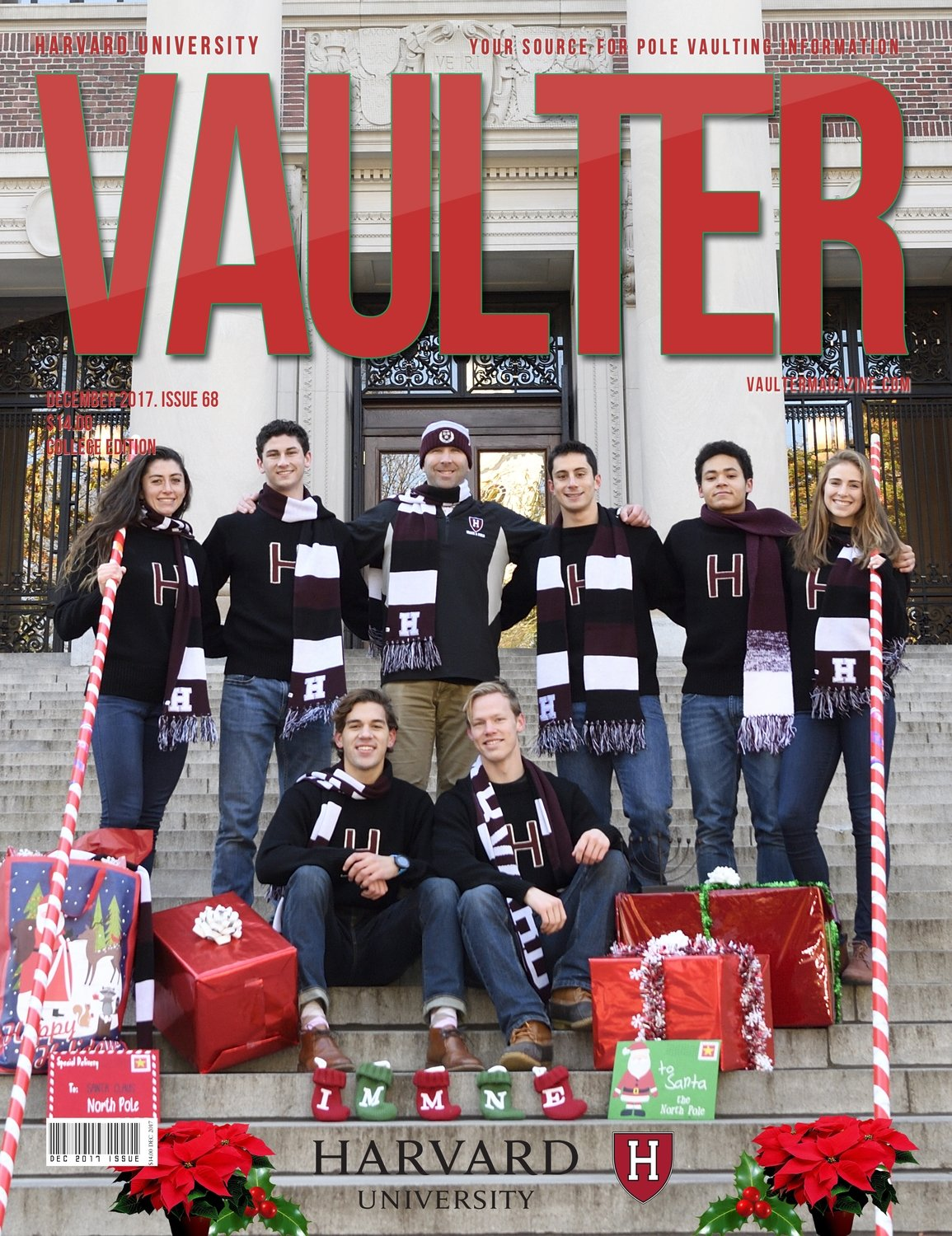 December 2017 Harvard University Issue of Vaulter Magazine Cover Poster for Vaulter Magazine