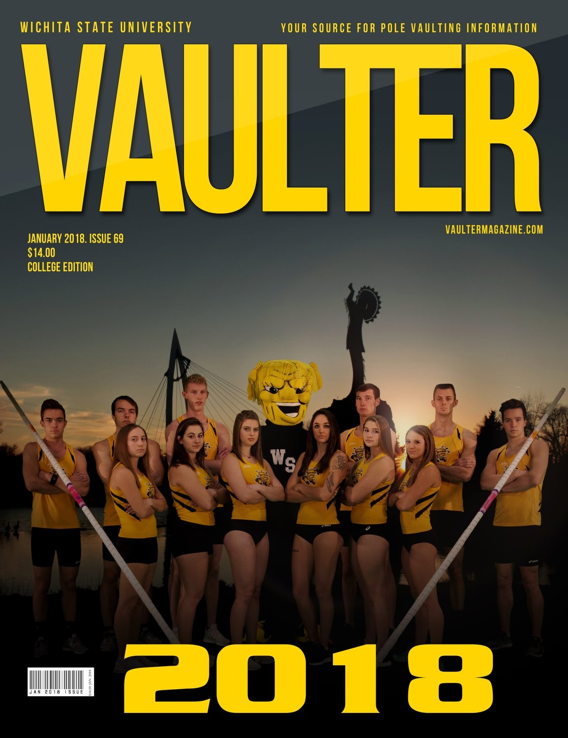 January 2018 Wichita State University Cover Poster for Vaulter Magazine