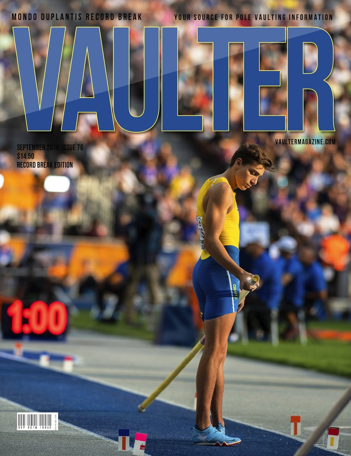 September 2018 Armondo Duplantis Issue of Vaulter Magazine - U.S. Standard Mail