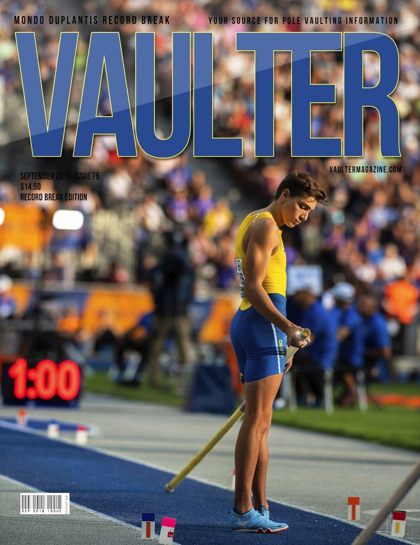 September 2018 Armondo Duplantis Issue of Vaulter Magazine Cover Poster for Vaulter Magazine