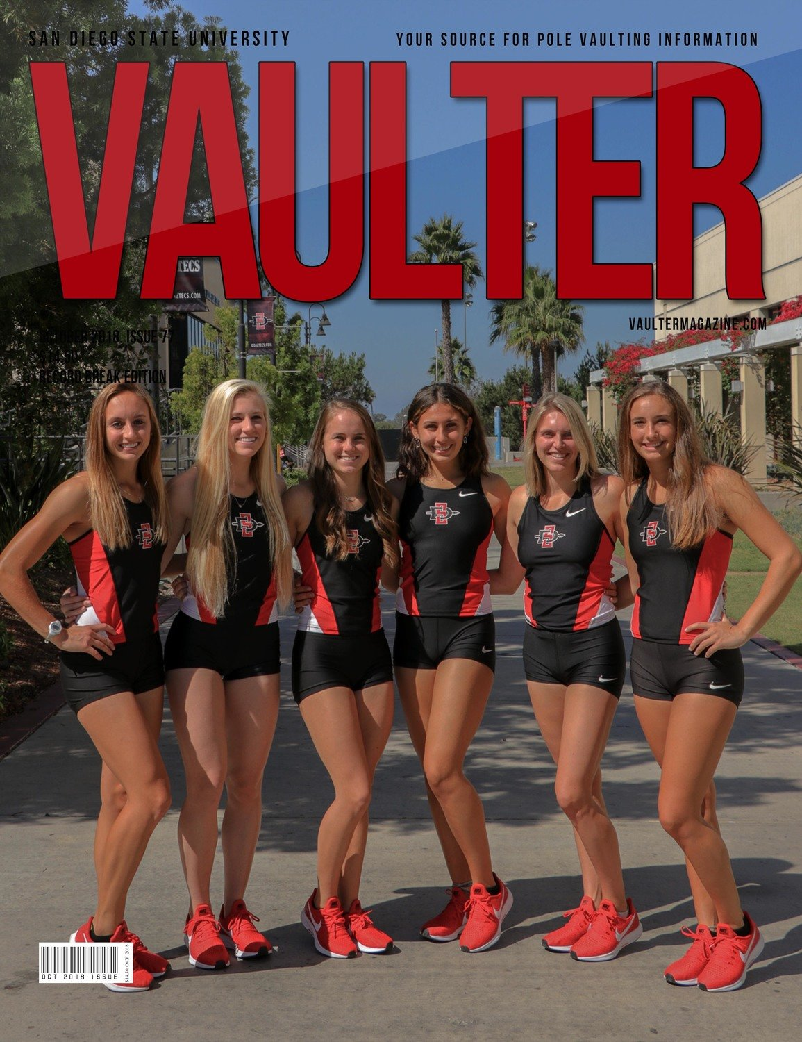 October 2018 San Diego State University Issue of Vaulter Magazine Cover Poster for Vaulter Magazine