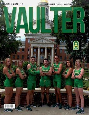 November 2018 Baylor University Issue of Vaulter Magazine Cover  - Digital Download