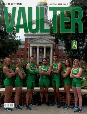 November 2018 Baylor University Issue of Vaulter Magazine Cover Poster for Vaulter Magazine