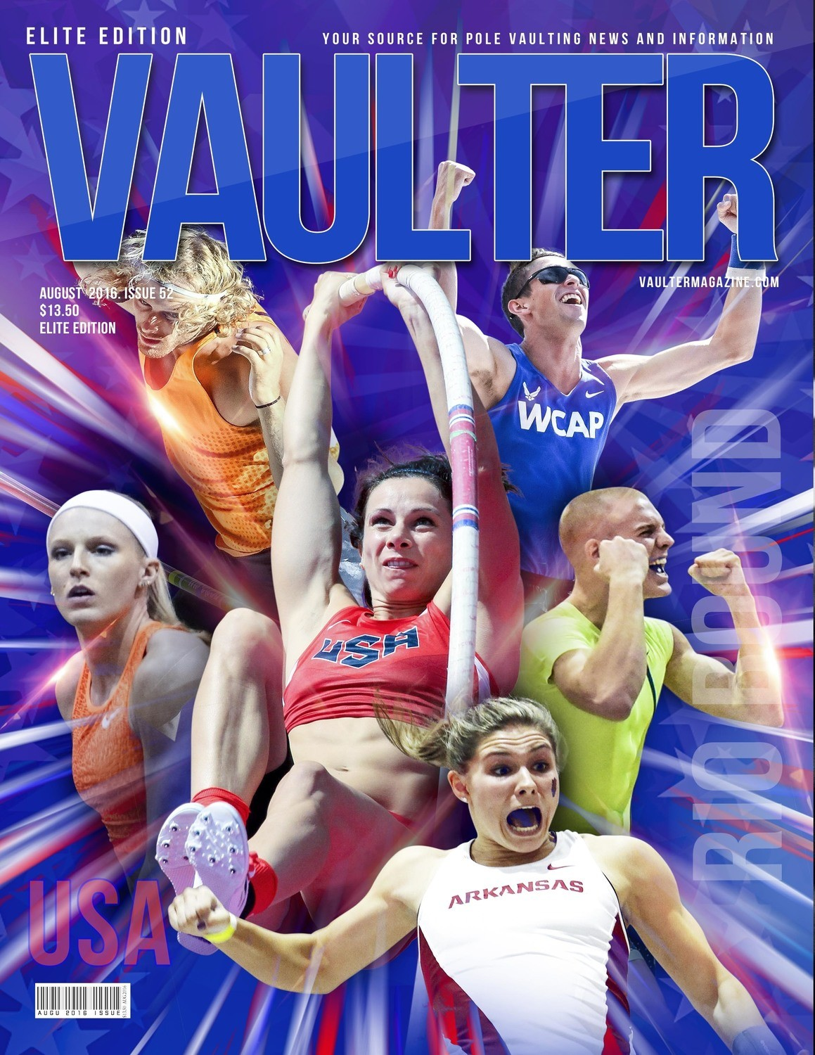 "12"" x 18"" Olympic Trials Cover of Vaulter Magazine August 2016"